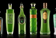 """Drawing Board"" absinthes / Students and designers love creating absinthe bottles, although they may not always have a full idea of the costings or of what makes a good absinthe. To date, none of these packs have been launched, but they still deserve to be remembered: as memorabilia that provide further proof of the fascination of absinthe. / by LaClandestine Absinthe"