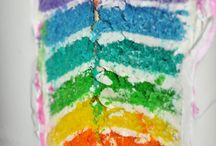 rainbow cakes / by Beth Stephens