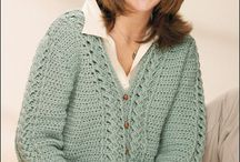 Cabled crochet jerseys