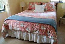 Your Guest Room is Ready / Sherrie's Finds Of Curated Hand Picked Cute And Luxurious Designer Linens And Unique Home Decor!!   This is my guest room setup right now!!!  So beachy and coastal in a good way!!!