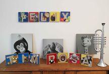 Fotokunst für Kinder / Fröhliche Kinderzimmerdekoration