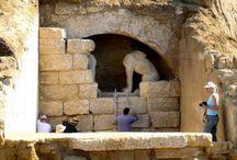 Greek Amphipolis Ancient Tomb / Discovered, April 2014 in Amphipolis, Macedonia, Greece
