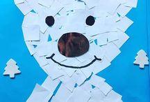 Polar bear craft and art ideas