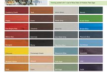 Colour Charts / Colour charts for our range of kid and pet friendly water-based wood stains and protectors