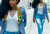 jeans  with tops african