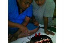 Dad's Birthday / Dad's new ages on this 2015,his age gonna be 48 this year. Hope your life will be adorable ahead dad! :D *cheers