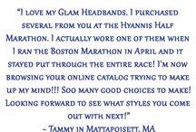 Glam Headband Testimonials / Glam Headband Testimonials