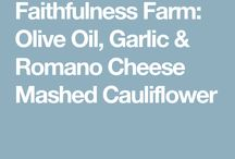 Cauliflower dishes