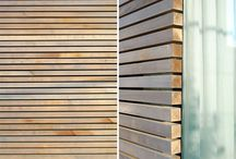 wood and metal cladding/siding/screens