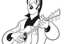 elvis presley caricatures (rockin' the fifties) / A gallery of some of the finest caricatures of Elvis Presley in the 1950s on the Internet! According to School of Visual Arts caricature instructor Sam Viviano, the term refers only to depictions of real-life people, and not to cartoon fabrications of fictional characters, which do not possess objective sets of physiognomic features to draw upon for reference. Neither does it refer to anthropomorphic depictions of inanimate objects such as automobiles or coffee mugs.