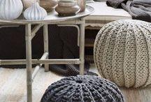 Poufs, cushions, ottoman