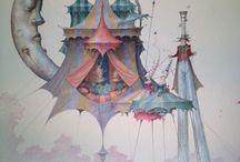 Art - Daniel Merriam / Daniel Merriam is an American artist born in 1963 in York, Maine. / by Beth Mills Foster