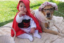 disfraz bebe y perro