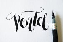 Lettering. / Arte de escribir con pincel y tintas
