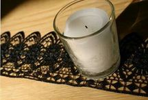 black lace around candle
