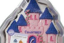 Castle Cake Designs / This shape cake is made by using our Wilton Castle cake tin.