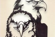 Coloring Pages - Eagles and Native American