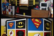 jaxons super hero room / by josh Russell