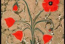 Ebru / Ebru, marbling, mramorování, suminagashi Studijní materiály Ateliéru Ebru CZ. Study source of Ebru Atelier CZ. www.ebru.cz