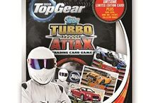 Top Gear Turbo Attax / From the popular TV show Top Gear comes the Top Gear: Turbo Attax card collection. This brand new trading card game from Topps has over 200 cards to collect, including 32 mirror foil cards and 16 holographic foils. This includes the well-known show hosts Jeremy Clarkson, Richard Hammond and James May along with a host of cool-looking cars from the leading car manufacturers in the world.