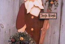 santa claus legno