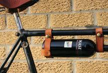 Suporte vinho/couro