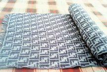 Fendi Scarf Cravatte wool Vintage Muffler Shawl Grey