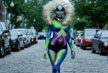 AHA BODY AS A CANVAS EVENT / Take a look at these BREATHTAKING bodypainting designs from the recent AHA BODY AS A CANVAS event, exclusively sponsored by #KryolanCITY #Boston.