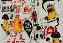 ALEPOP ARTWORK 03 / Visual art varies. Drawings, sketches, scribbles, komix.