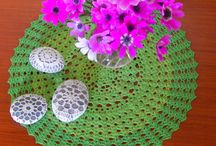 crochet  doily ( my work )