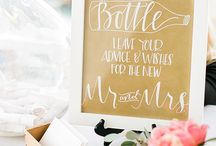 DIY - Wedding Ideas / Center table, hanging bulbs, DIY flowers and more