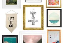 Home art & decor / Designs to turn a house into a home.