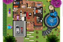 Planimetria di una villa / Photoshop