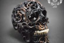 Hand Carved Rarest Arang Wood into Realistic Human Filigree Skull With Teeth From Buffalo Bone #THB1 / Find this skull on Etsy