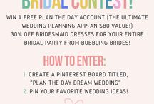 Plan The Day Dream Wedding! / Enter our latest #weddinggiveaway contest!