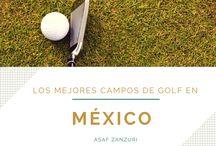 LOS MEJORES CAMPOS DE GOLF EN MÉXICO / A Asaf Zanzuri, un empresario en México, le gusta jugar al golf los fines de semana. Estos son algunos de los campos de golf favoritos de Asaf en México.