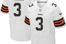 Brandon Weeden Nike Elite Jersey – Authentic Browns #3 Black White Jersey