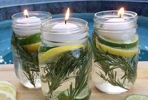 DIY / lys i vand m. urter