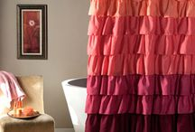 Stylish Shower / Refresh your bathroom for spring with these stylish shower curtains.