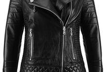 Kožená dámská bunda-křivák