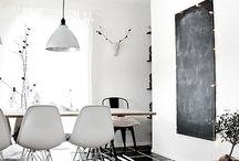 P&B   Decoração / Inspiração para decorar em preto e branco! <3