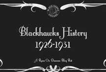 Blackhawks History / I've been writing up the history of the Blackhawks five years at a time on RoD. Here are some of the pics that I found interesting from those posts. / by Kat
