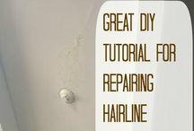 Repairing ceiling cracks