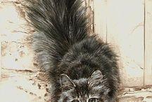 Cats art - umění, obrázky a kočky