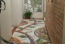 Mosaics - floors, paths etc