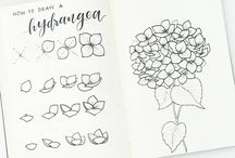 Line Drawings - BuJo & Watercolour / line drawings, outlines of items for bujo or watercolour