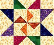 Free Quilt Block   csillagok