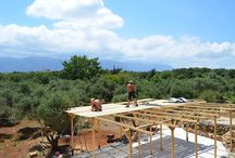 Constructions and Works at the Farm / Building the exterior facilities at the Olive Farm - Setting up a Permaculture system