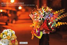Midnight flowers delivery Online / Surprise Your Loved Ones with Midnight flowers and gifts