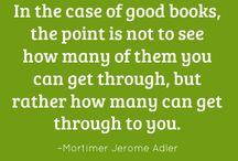 Bookish quotations / Quotes from authors and books I like. Random reading musings and funnies.